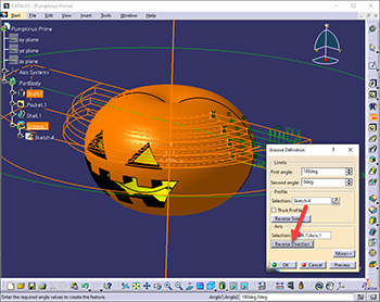 screen capture of catia v5 software interface