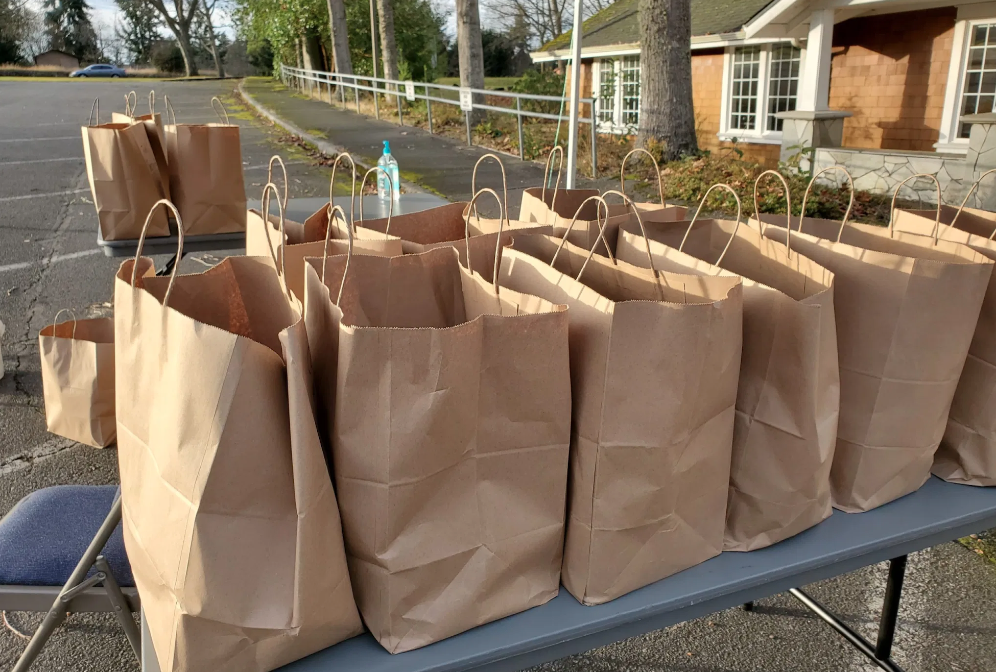 Bags of food to be donated to students