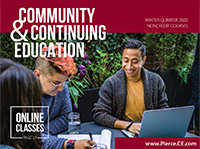 community and continuing education winter 2020 bulletin cover