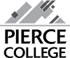 pierce college square grey logo