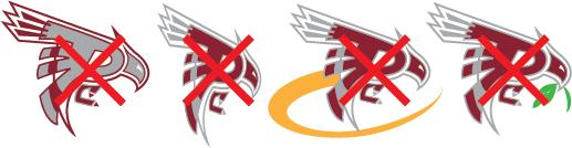 A collection of unacceptable Raider Athletics Logos