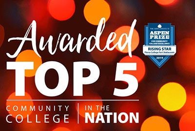 awarded top 5 community college in the nation by the aspen institute with aspen logo