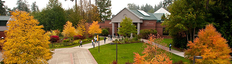 Pierce College Puyallup campus in the fall