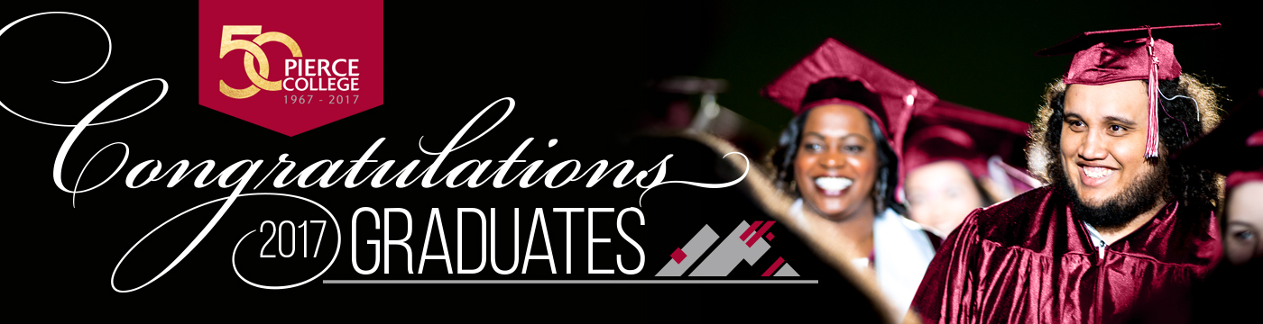 photo of smiling students in graduation attire with congratulations 2017 graduates in text