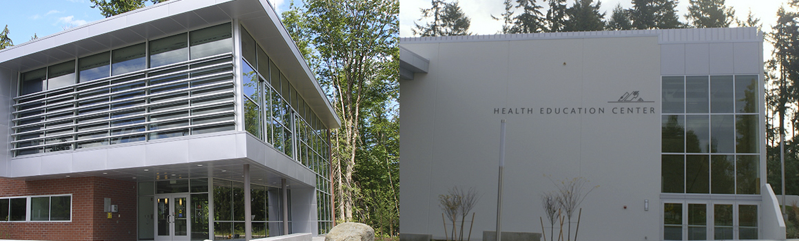 health education center buildings on puyallup and fort steilacoom campuses