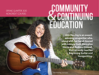community and continuing education spring 2020 bulletin cover