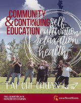 cover of community and continuing education fall bulletin