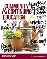 cover of spring 2018 community and continuing education bulletin