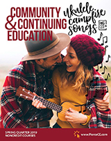 cover of cce 2019 spring bulletin with a young couple playing the ukulele