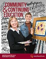 cover of community and continuing education winter 2018 schedule