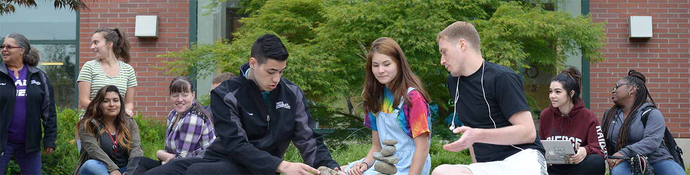 students on Puyallup campus
