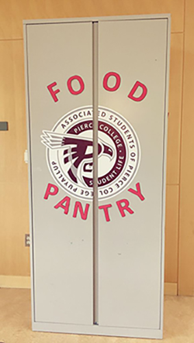 front door of puyallup student food pantry