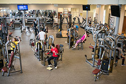 exercise equipment room at fort steilacoom hec