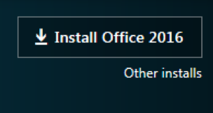 screen capture of the Install Office 2016 button