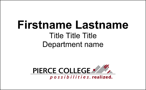 sample office nameplate template with name, job title, department, and college logo