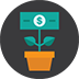icon of money growing in a pot