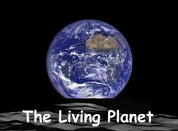 planet earth from space with text The Living Planet