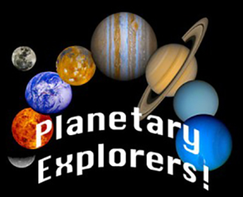several planets from our solar system with text planetary explorers