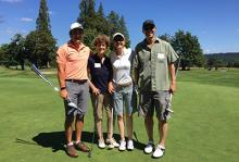 golfers at last year's scholarship scramble