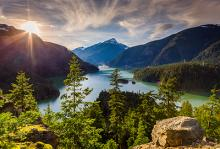 photograph of washington nature scene with rivers and mountains