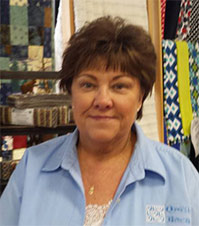 sharon in quilt shop