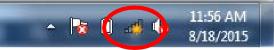wi-fi icon in task bar