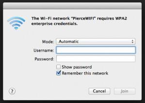 enter username on mac