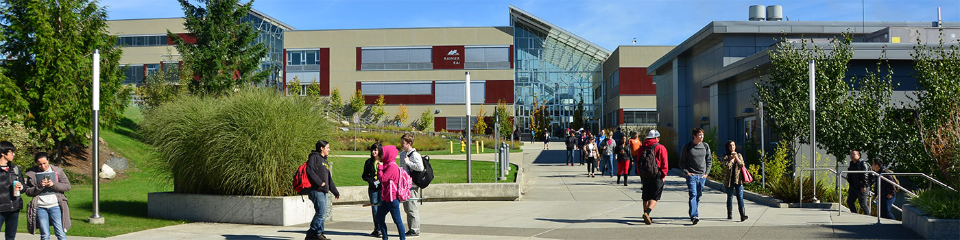 students walking on fort steilacoom campus